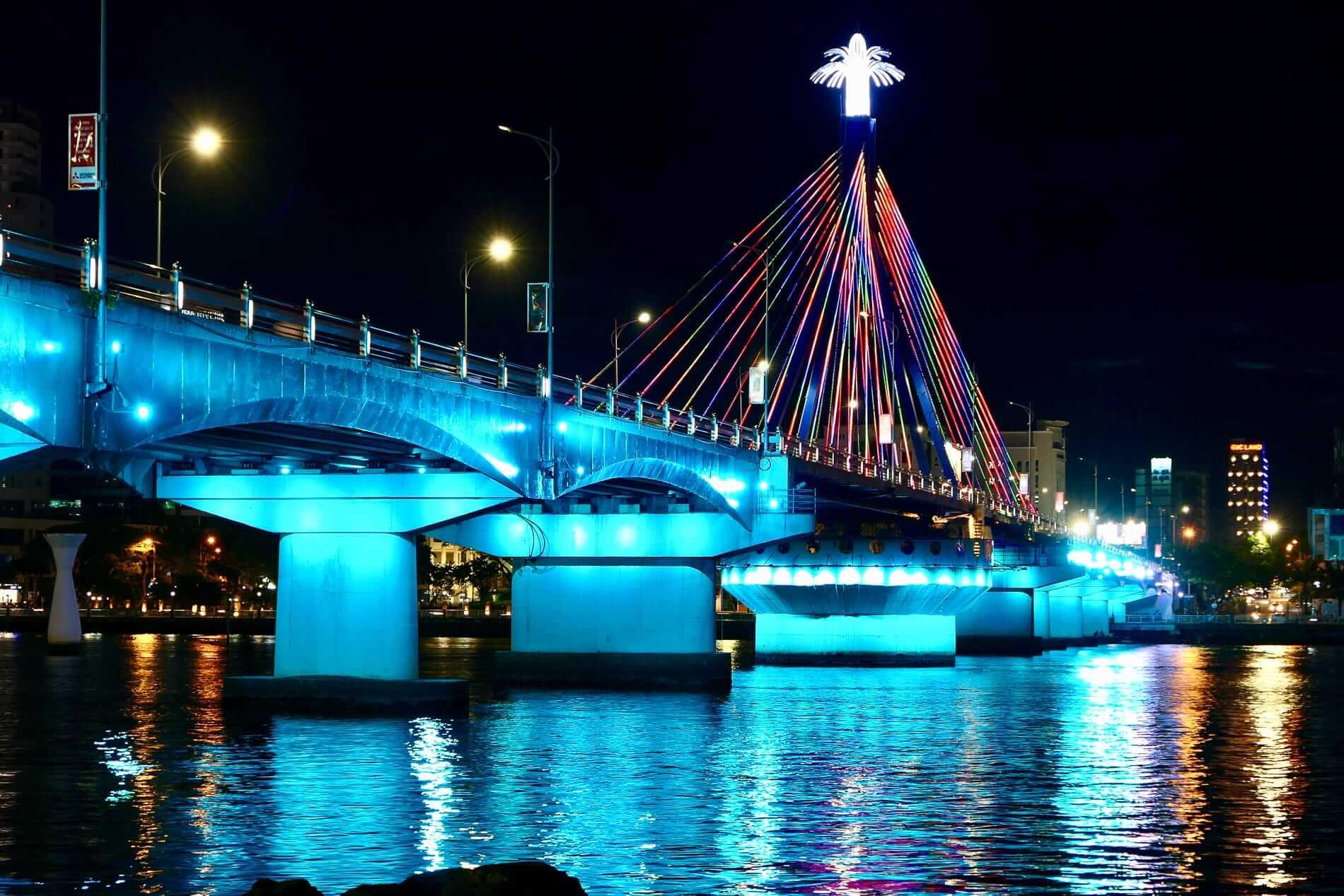 The Swing Bridge at night
