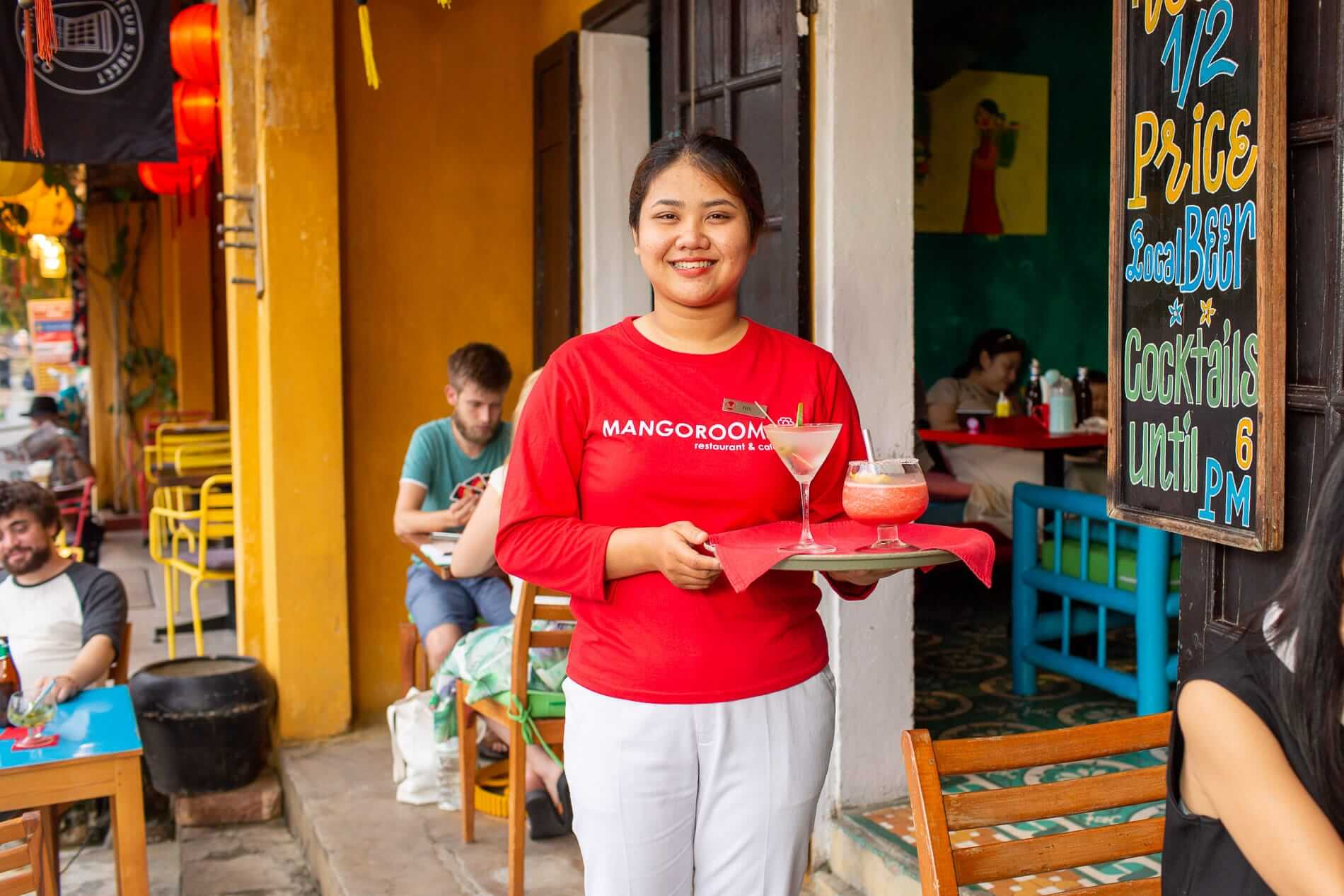 Staff with Hoi An cocktails