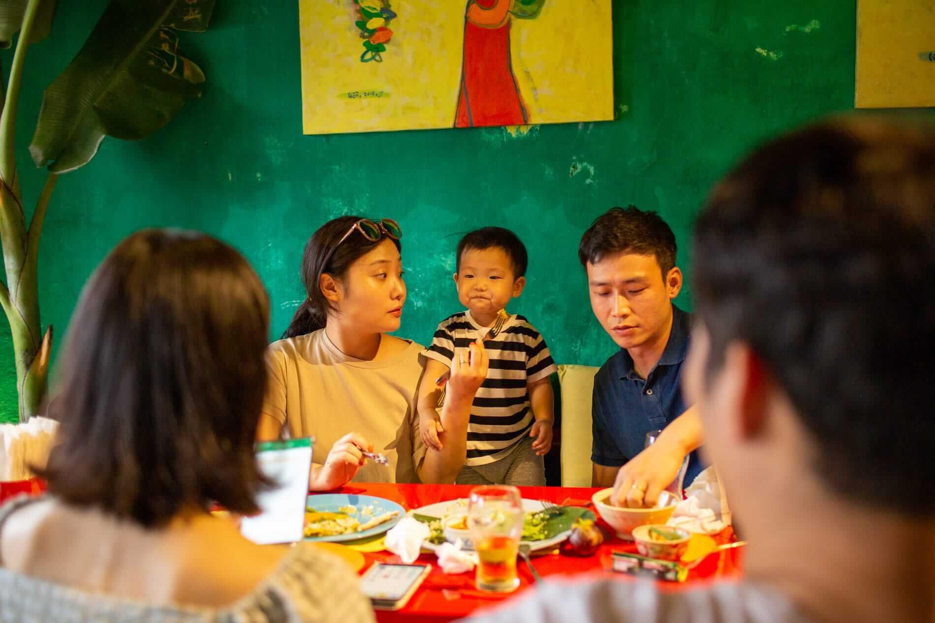 Family dinner in Hoi An