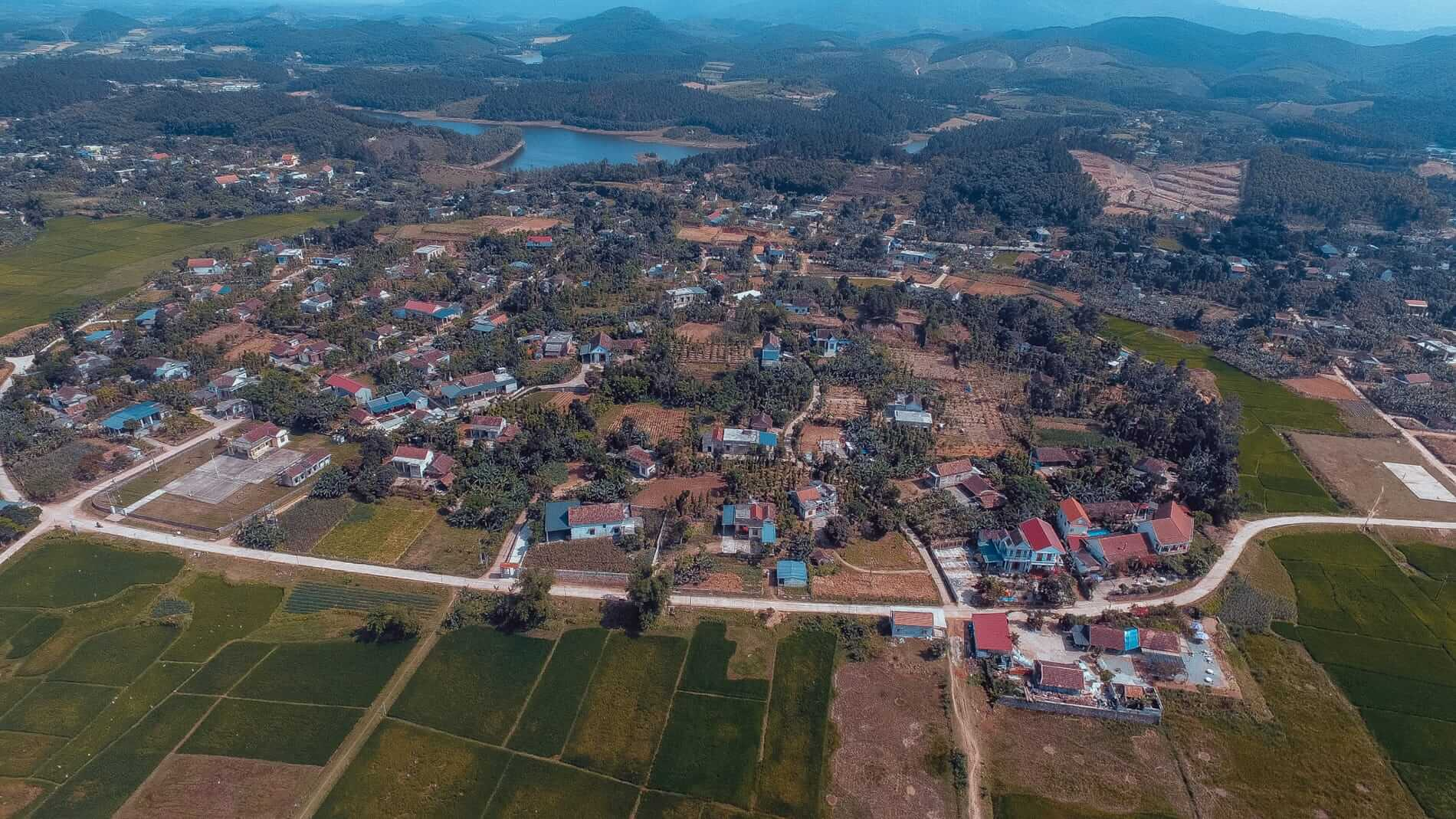 aerial view of Phong Nha village