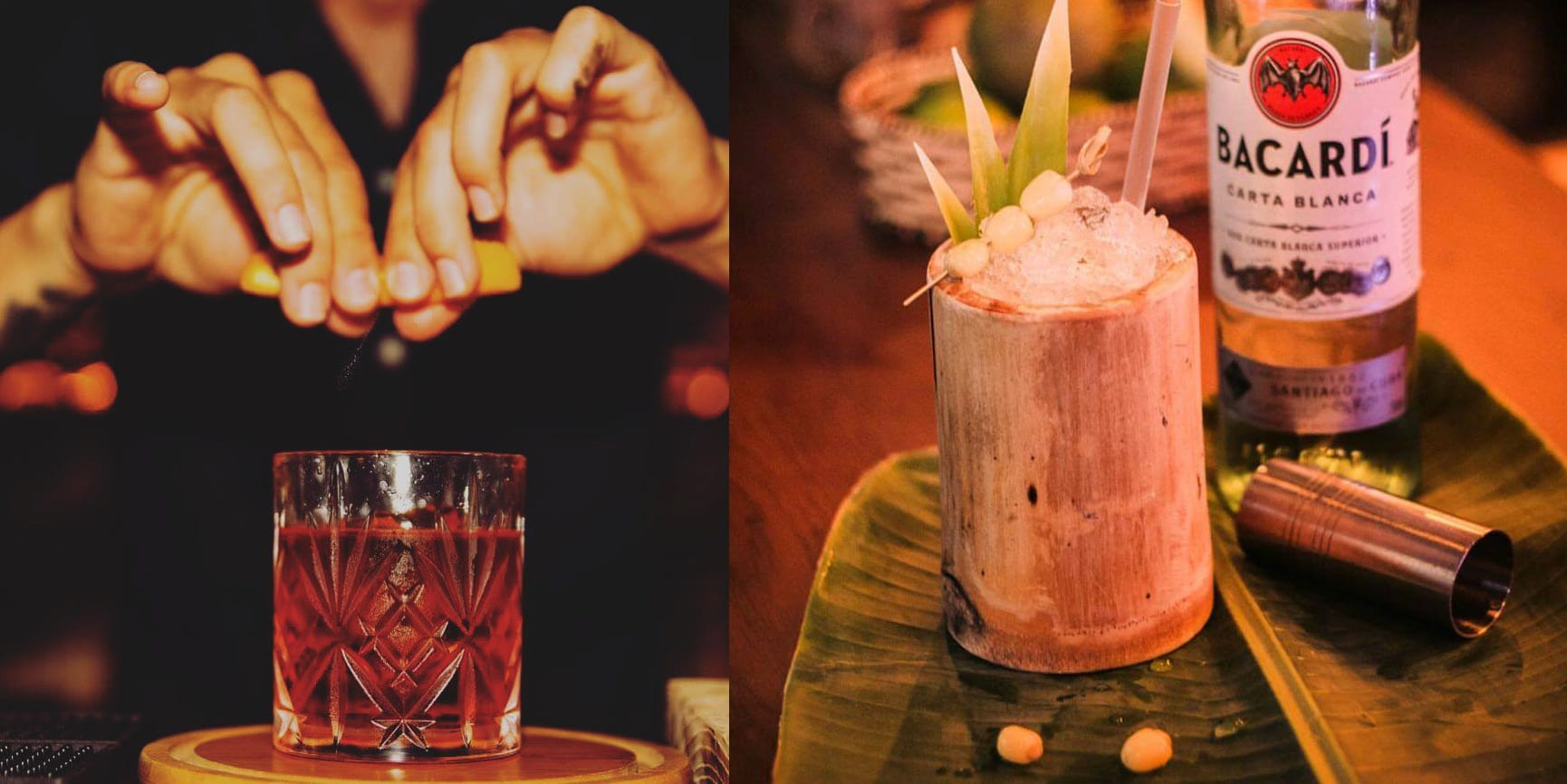 cocktails served at Wanderlust Da Nang