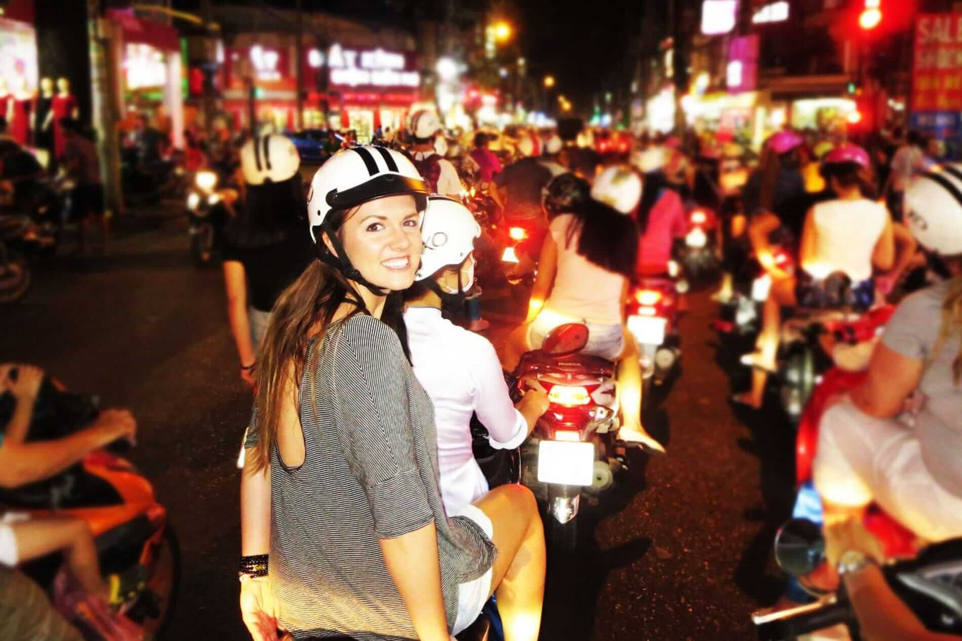 A busy night to go on a motorbike tour