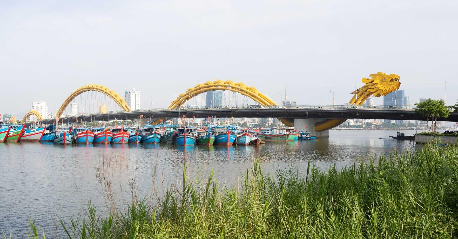 The Dragon Bridge and the beach