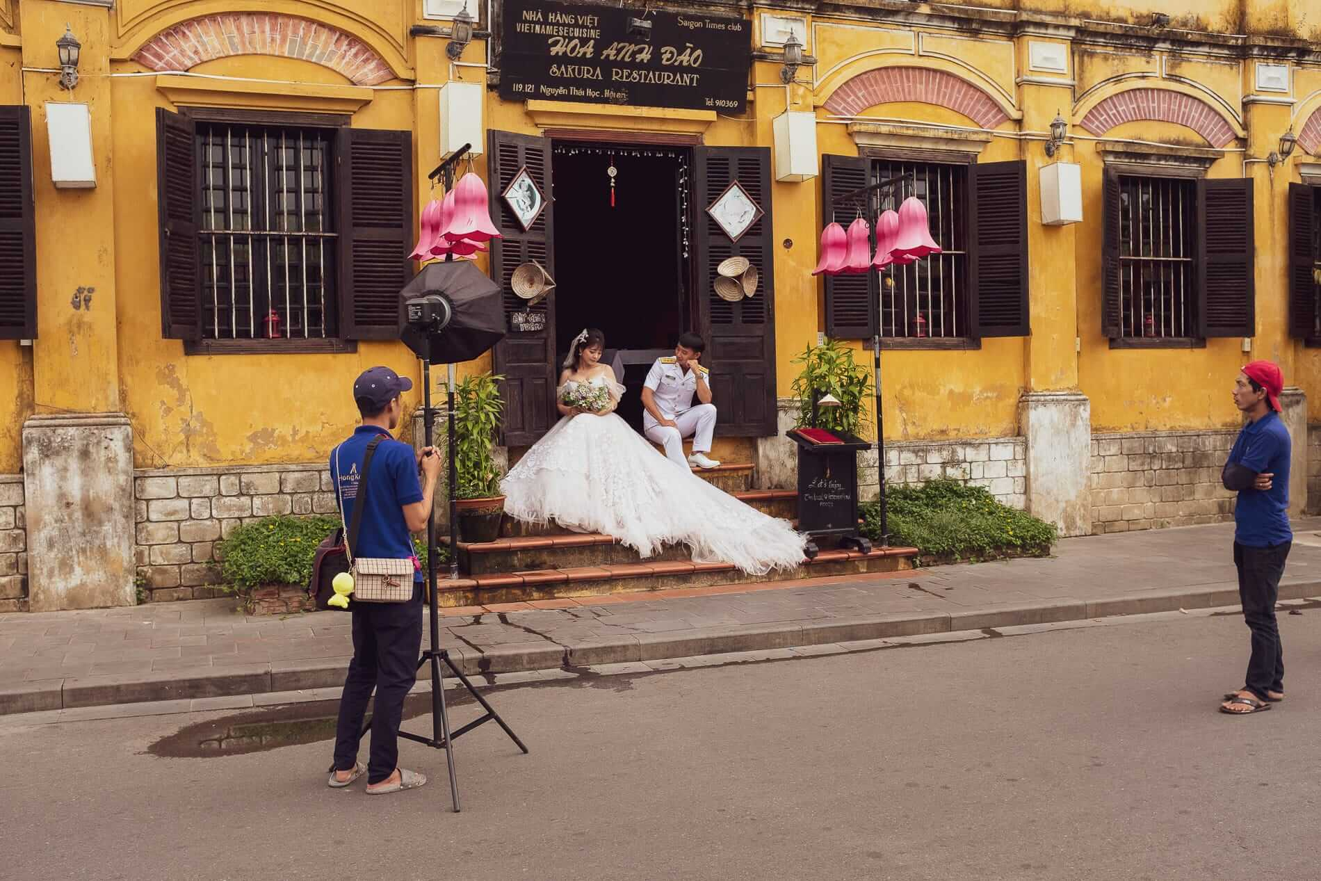 Photoshoot for a wedding in Hoi An