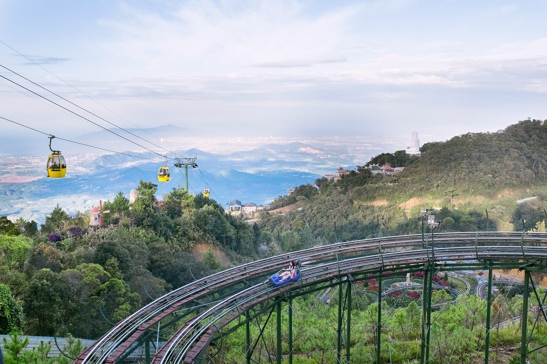 The Ba Na Hills cable over looking over Da Nang