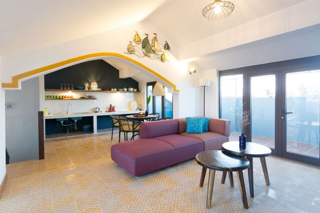 The penthouse suite at the Beachside Boutique Resort in Hoi An