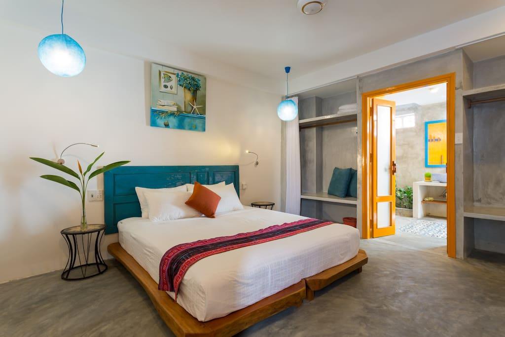 A room at the Villa Catani
