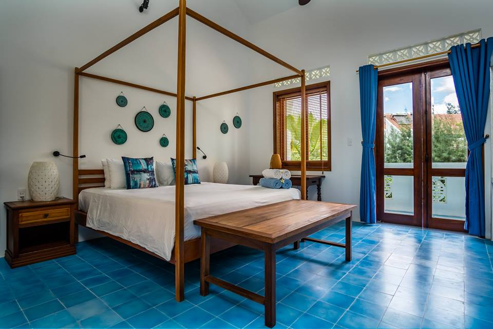The main bedroom at the Beachside Boutique Resort in Hoi An