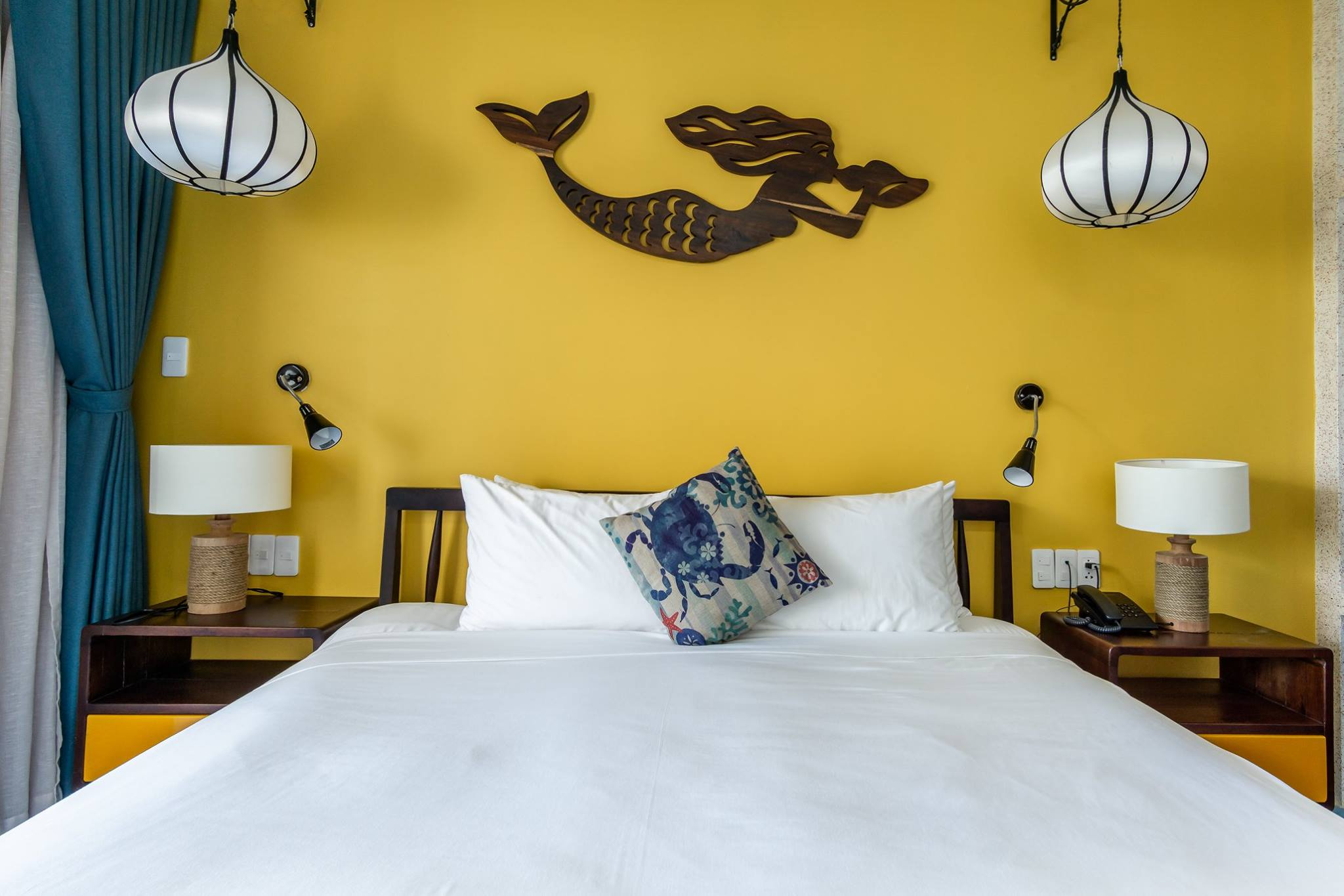 Yellow room at the Beachside Boutique Resort