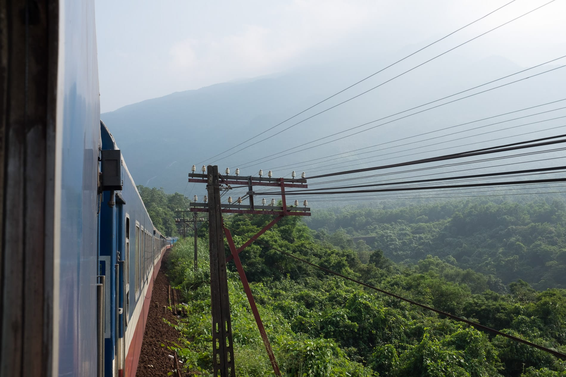 The long journey by train from Hanoi to Da Nang