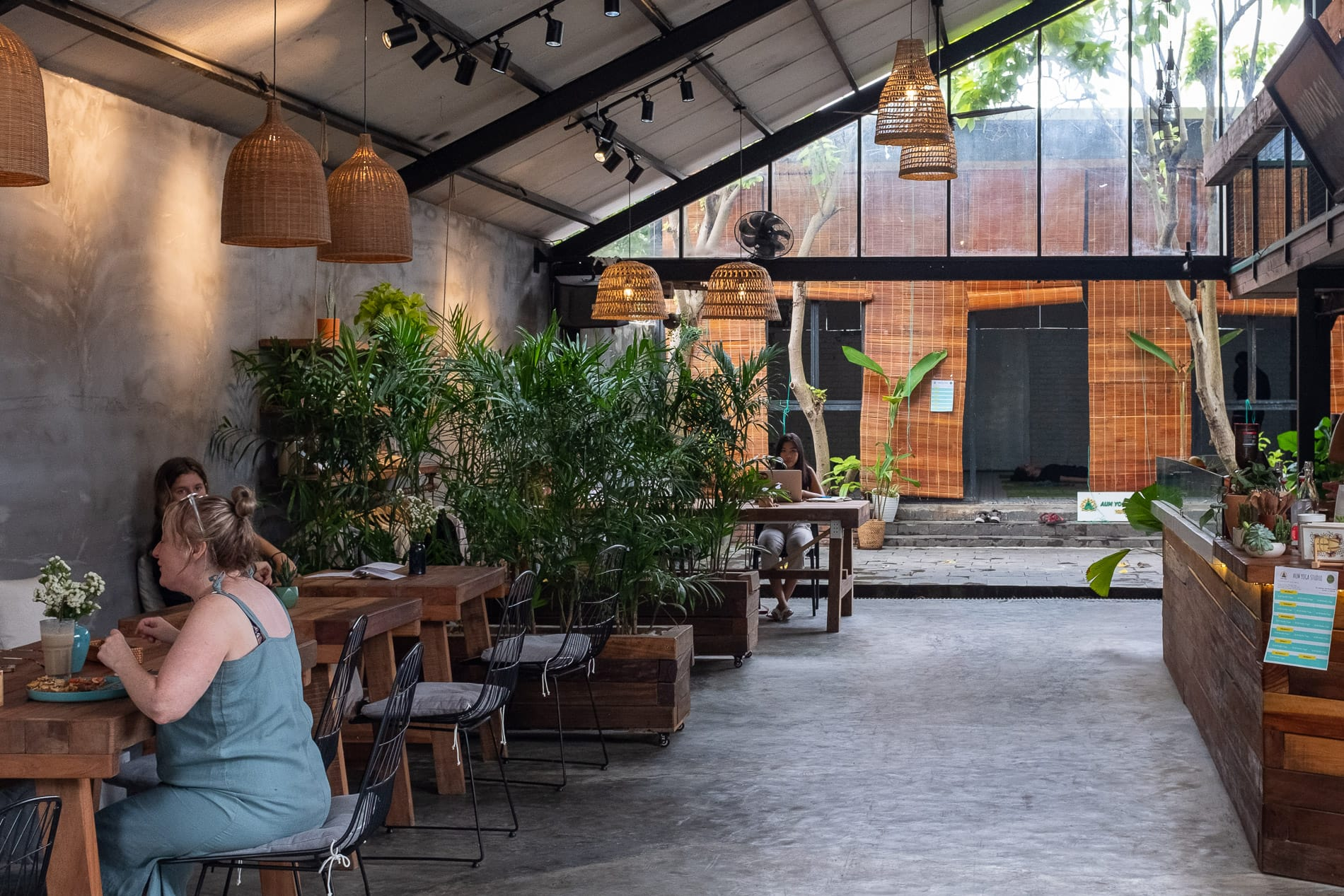outdoor seating area at Nourish Eatery Hoi An