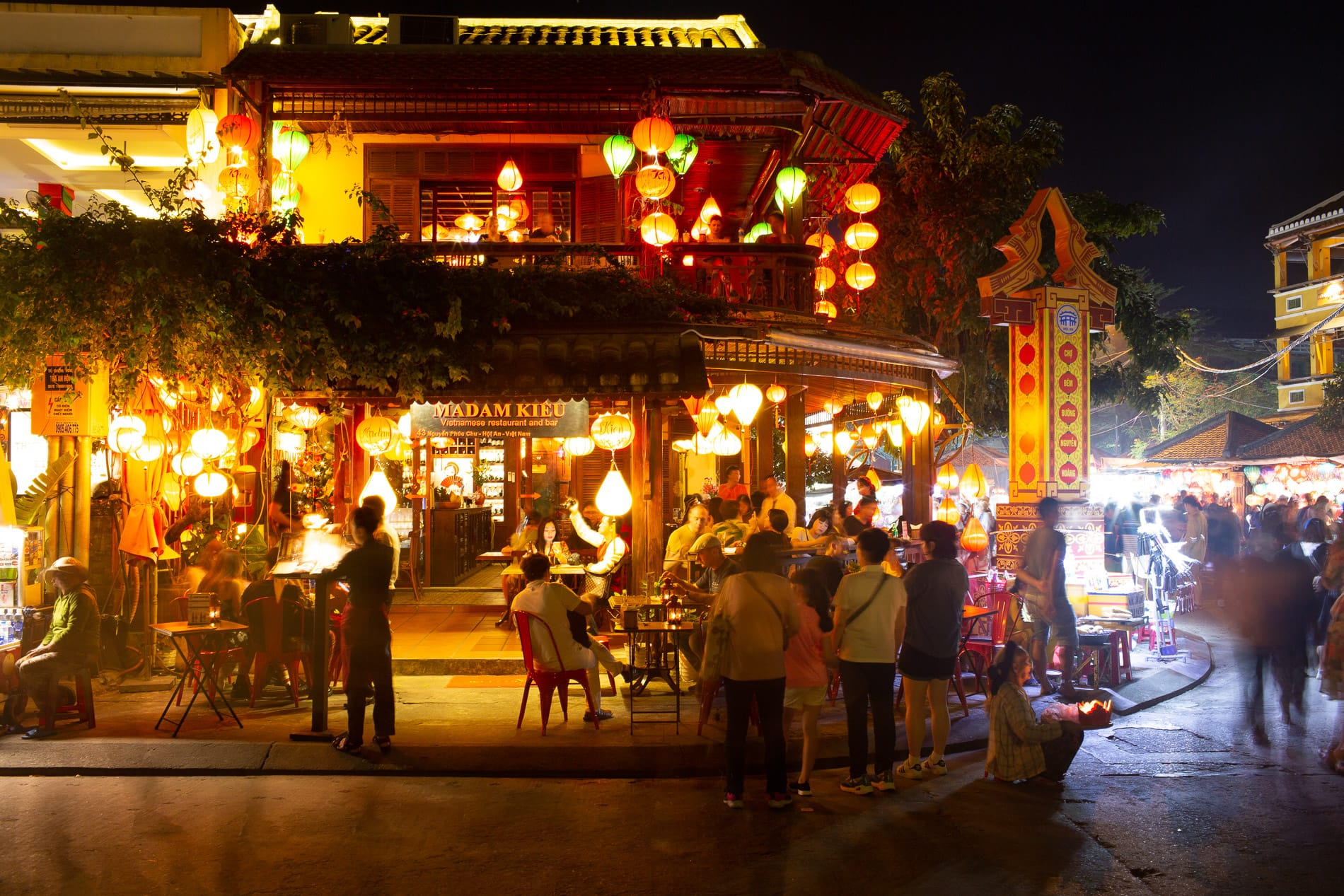 Outside seating at Madam Kieu Restaurant