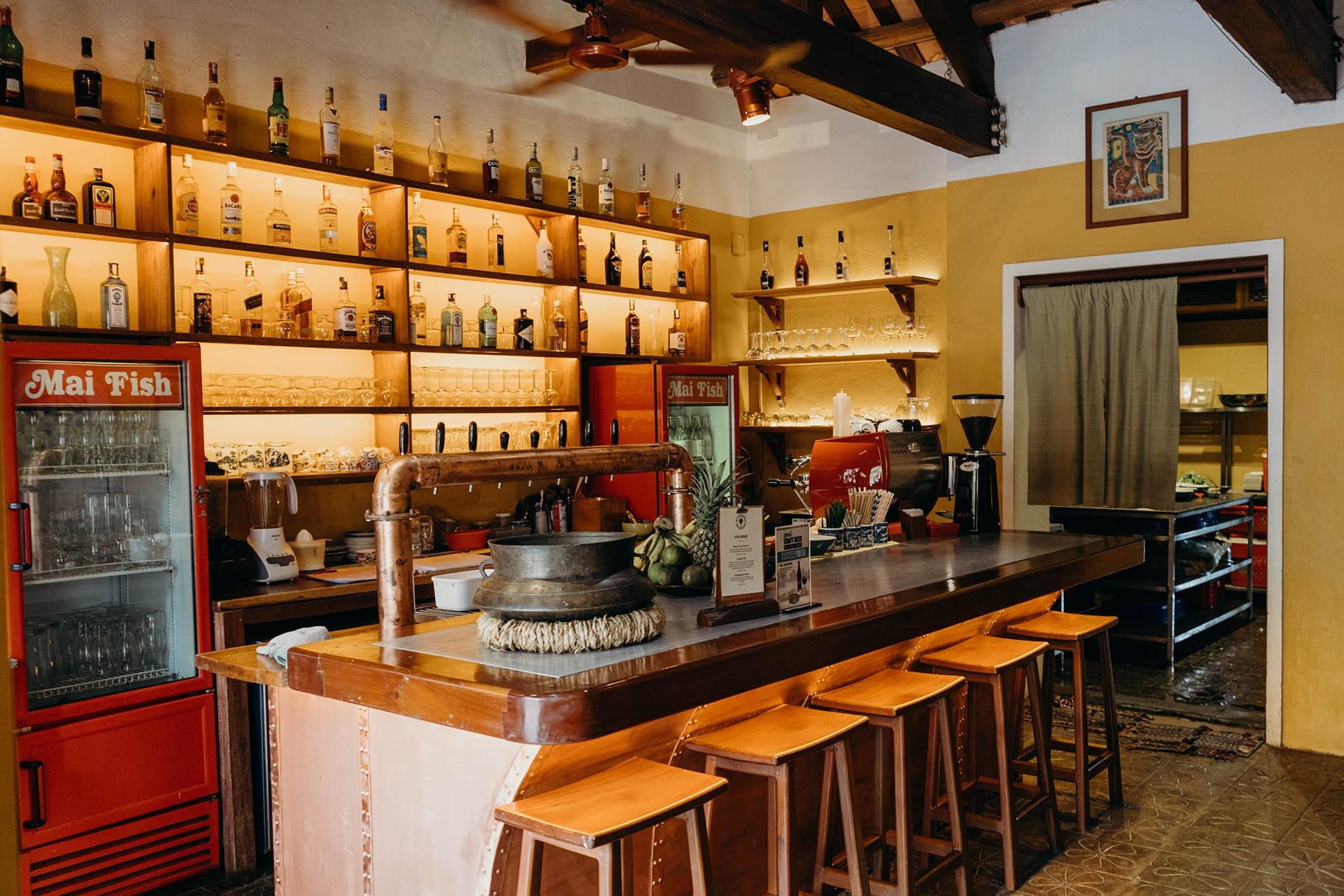 The bar at Mai Fish Restaurant