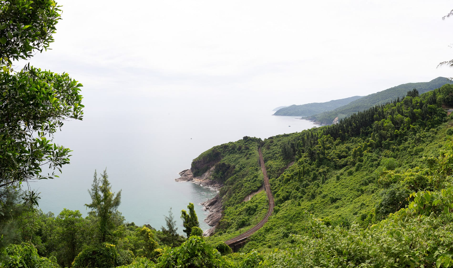 The north-south train lines at Central Vietnam's coastline