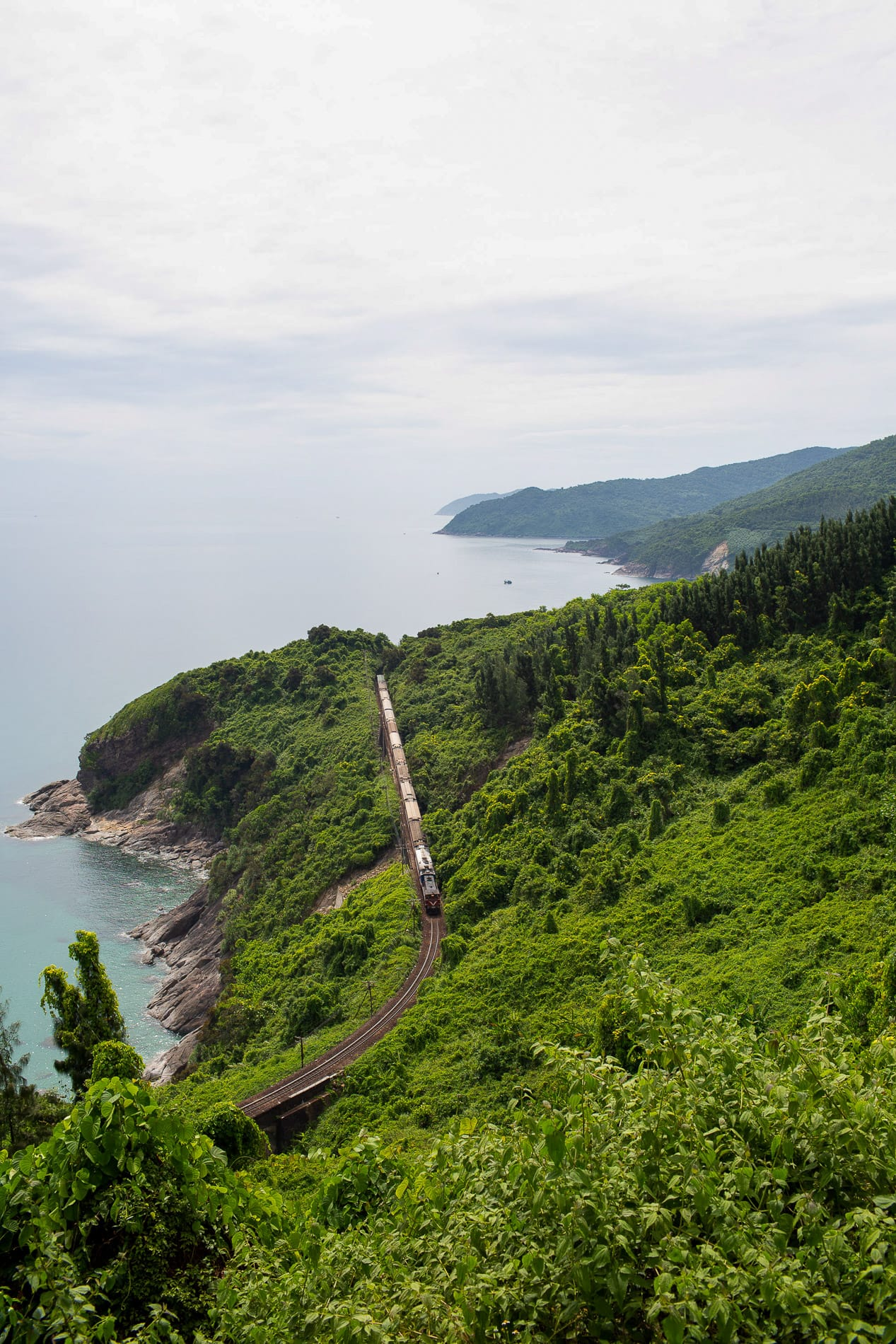 Train passing the Hai Van Pass