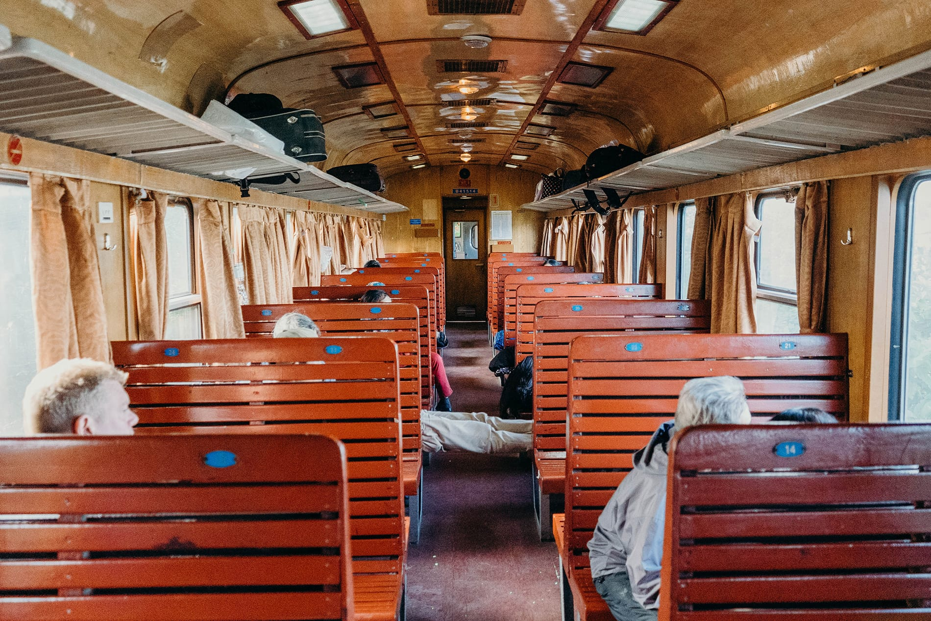 Old wooden train carriage