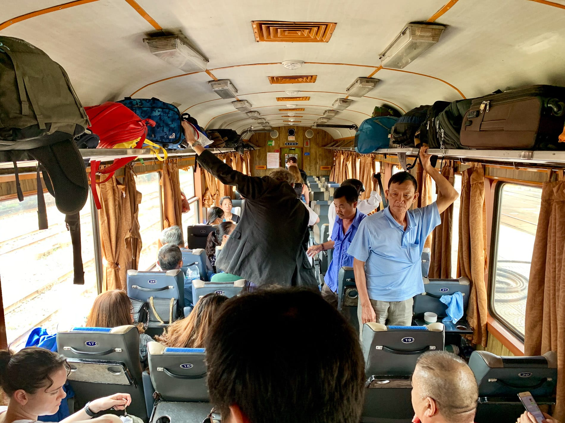 Airline style soft-seats offered on train from Hanoi to Da Nang
