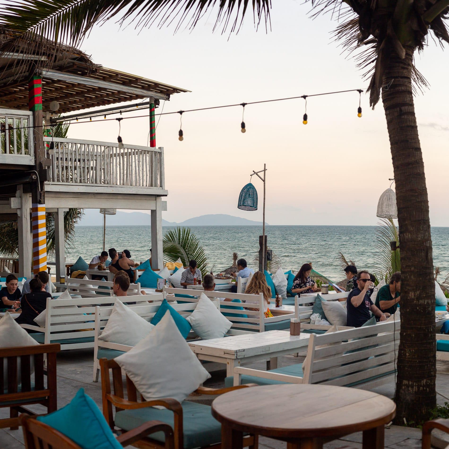 The best beachside burger in Hoi An at the Deckhouse Restaurant