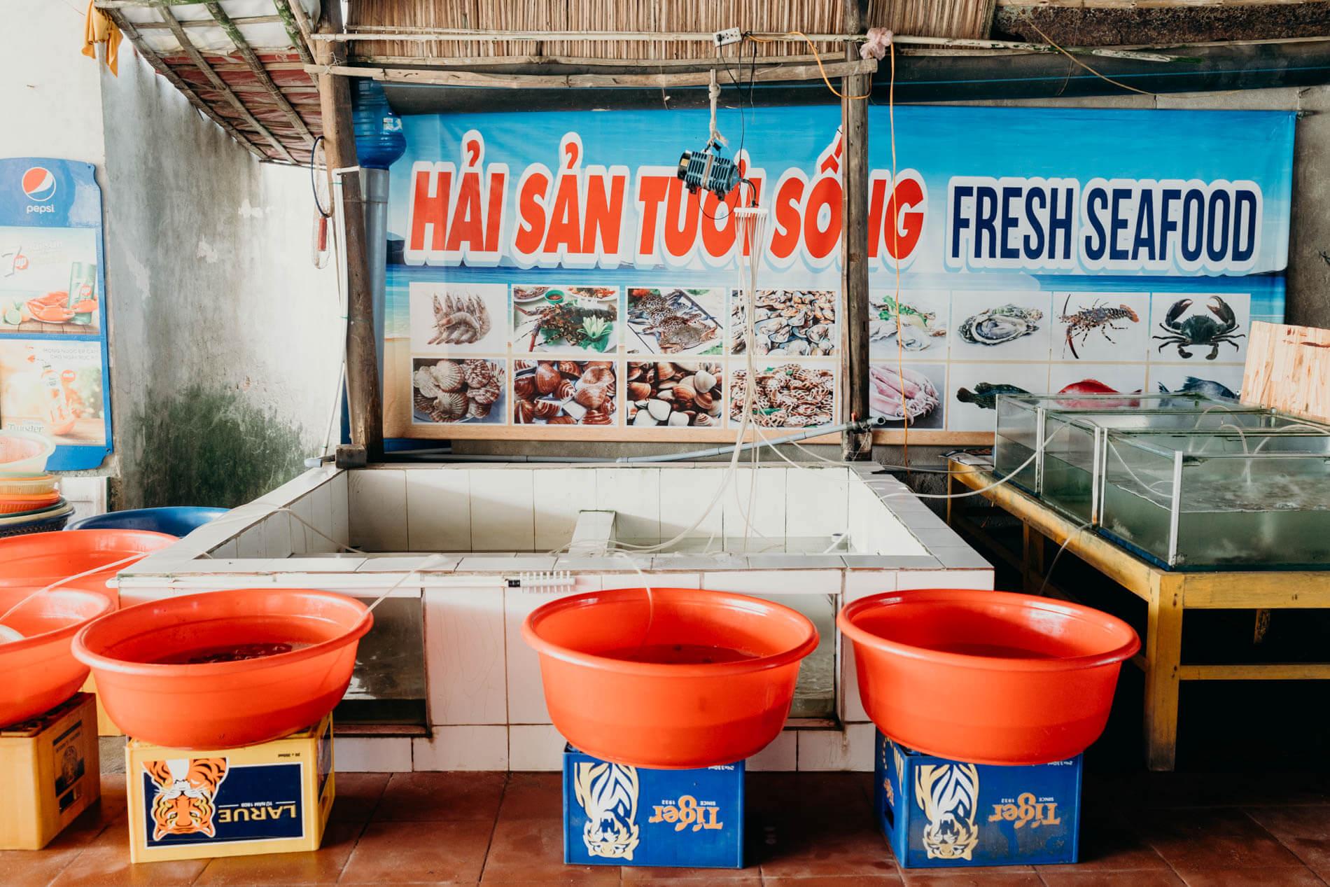 Hon Restaurant's fresh seafood
