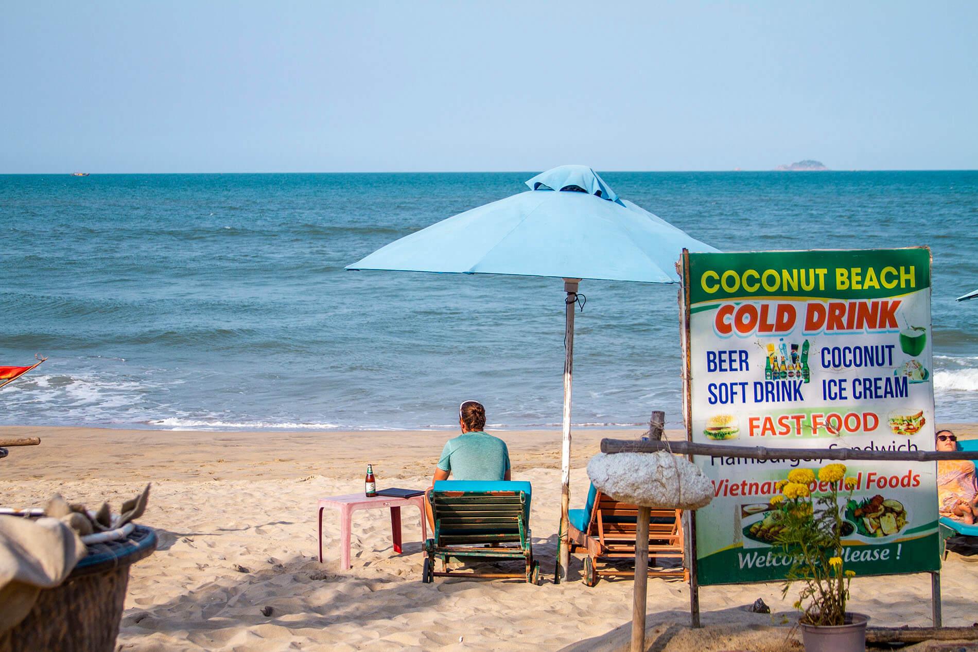 Beachfront views at Coconut Beach