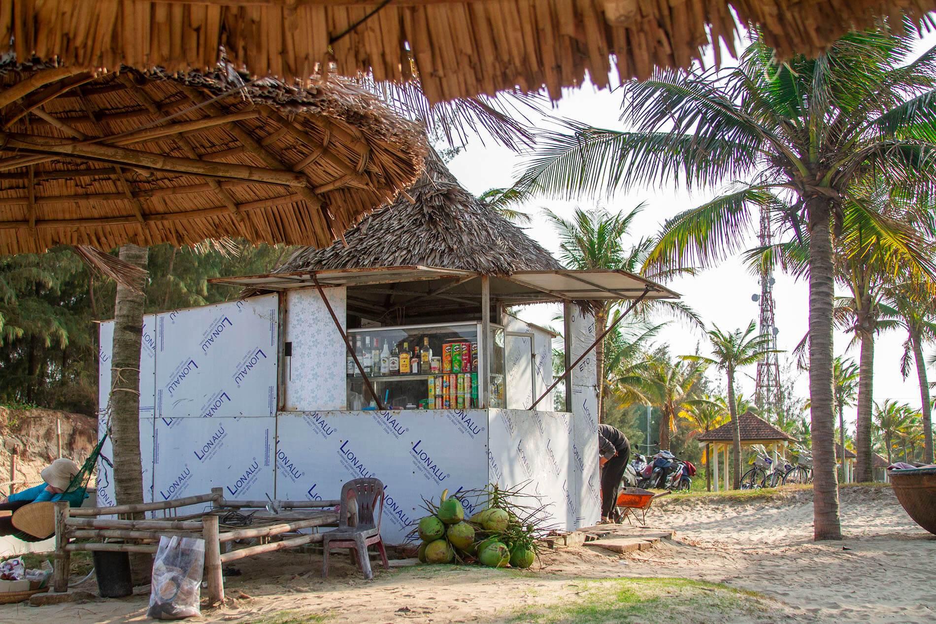 food shack at the Coconut Beach