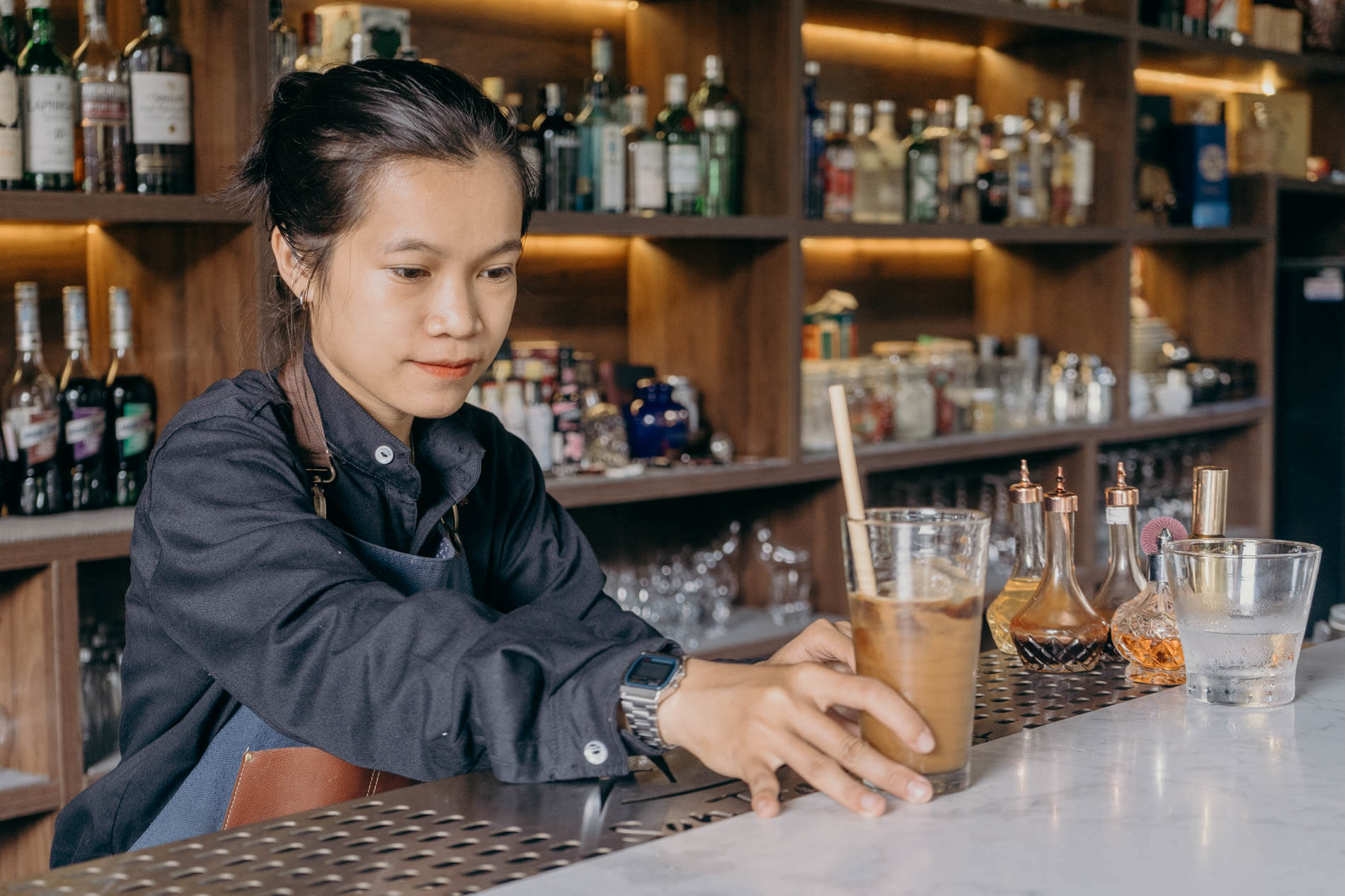 a bartender at Son Tra Retreat