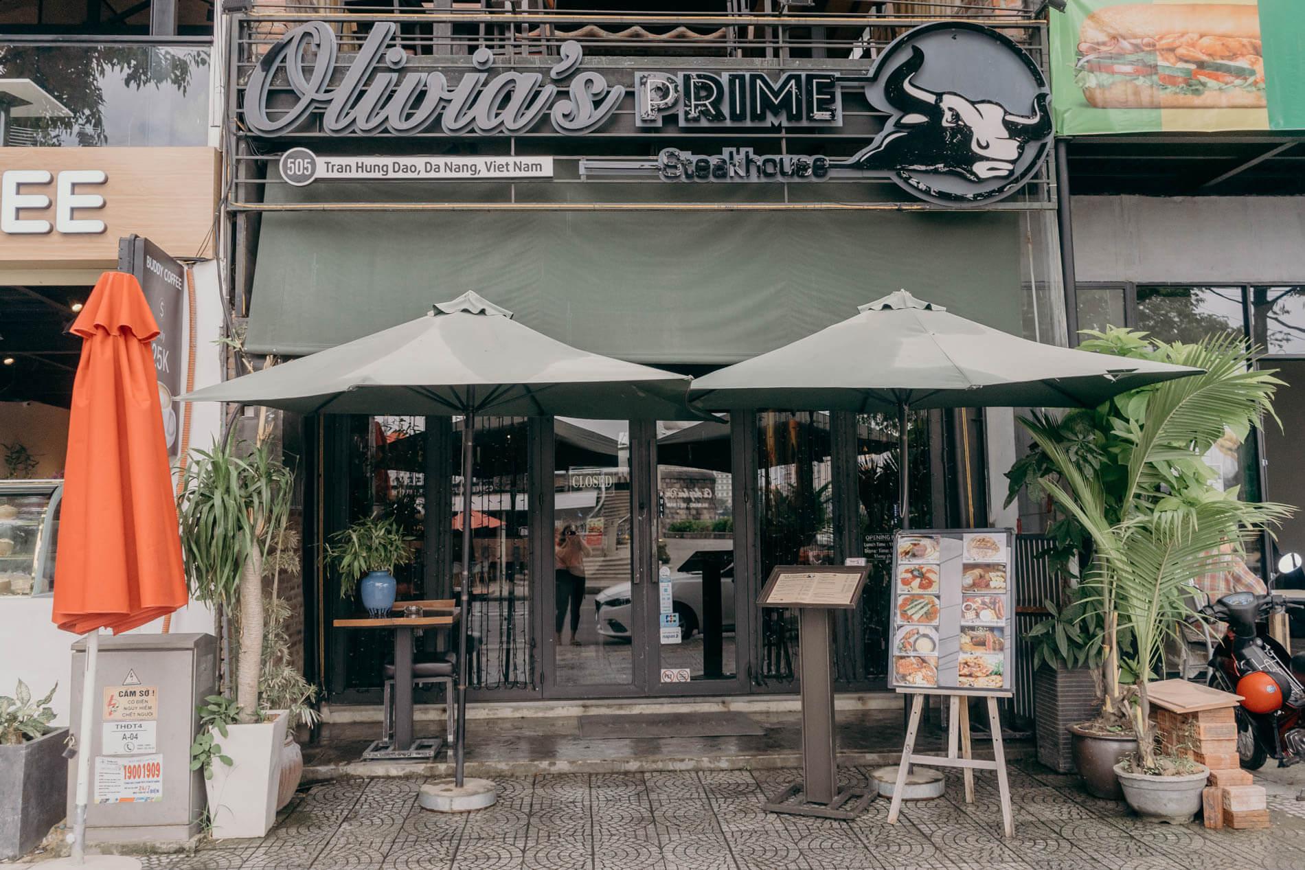 Olivia's Prime Steakhouse entrance