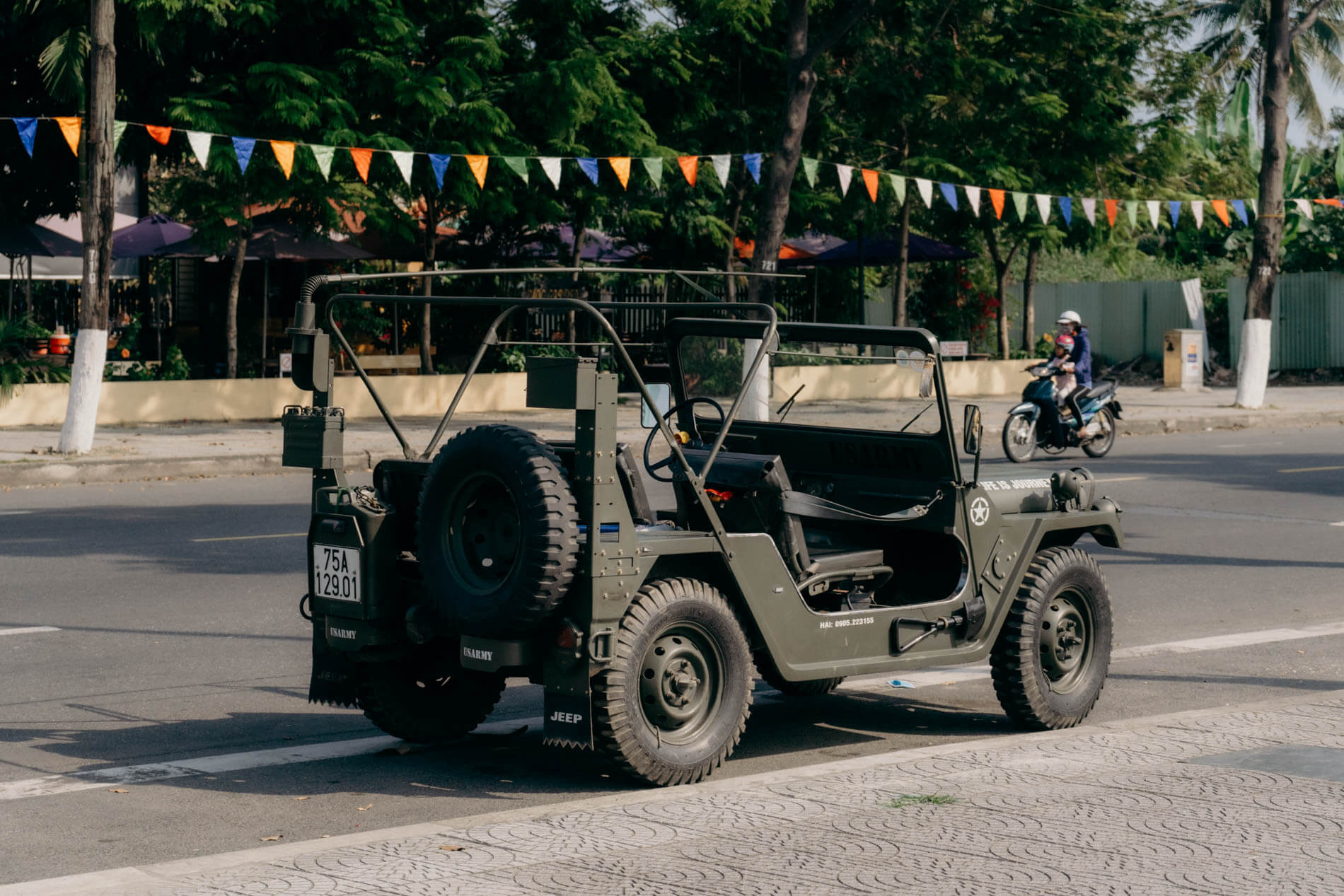 the final leg on a jeep tour from Hoi An to Hue
