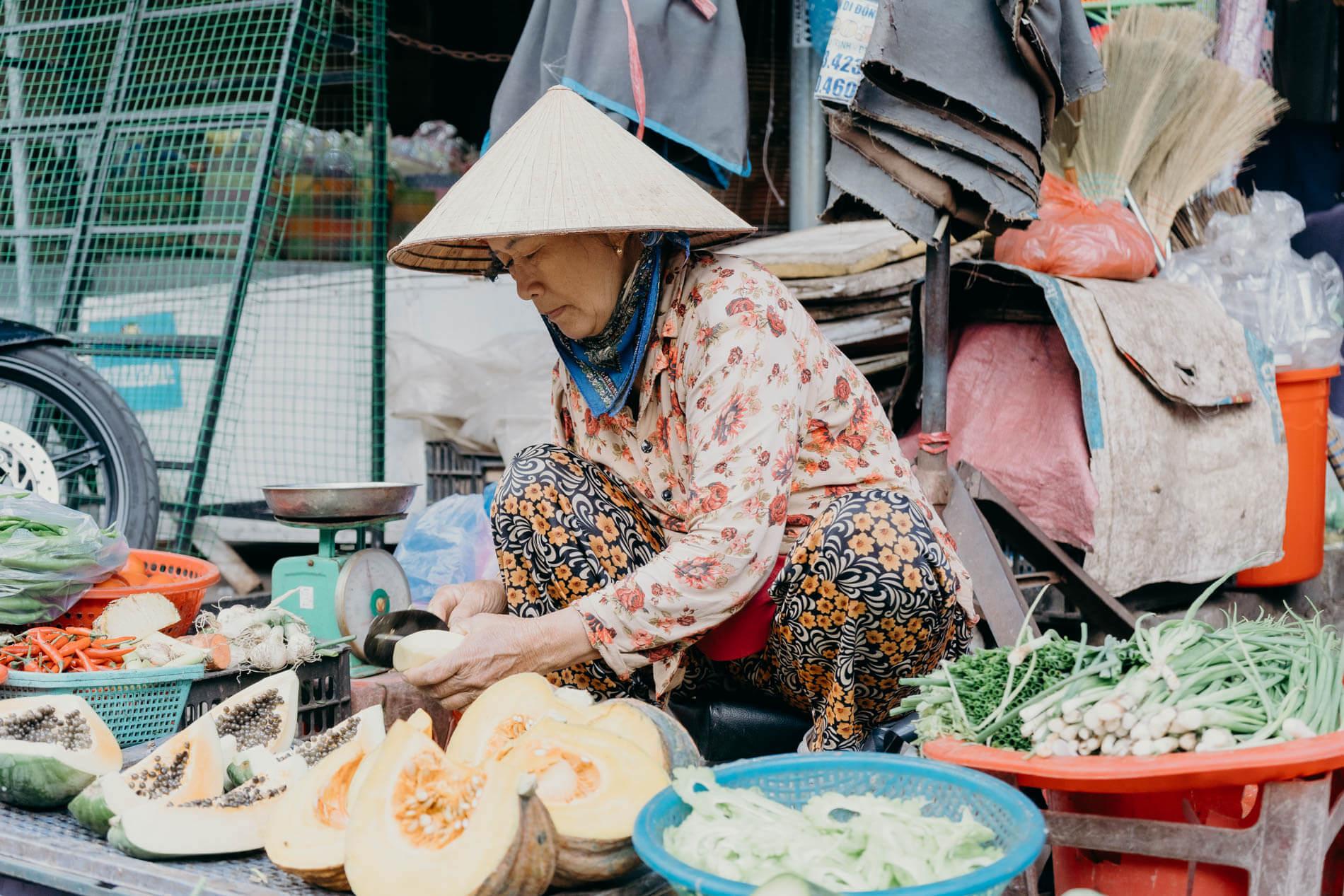 A vendor in Hoi An
