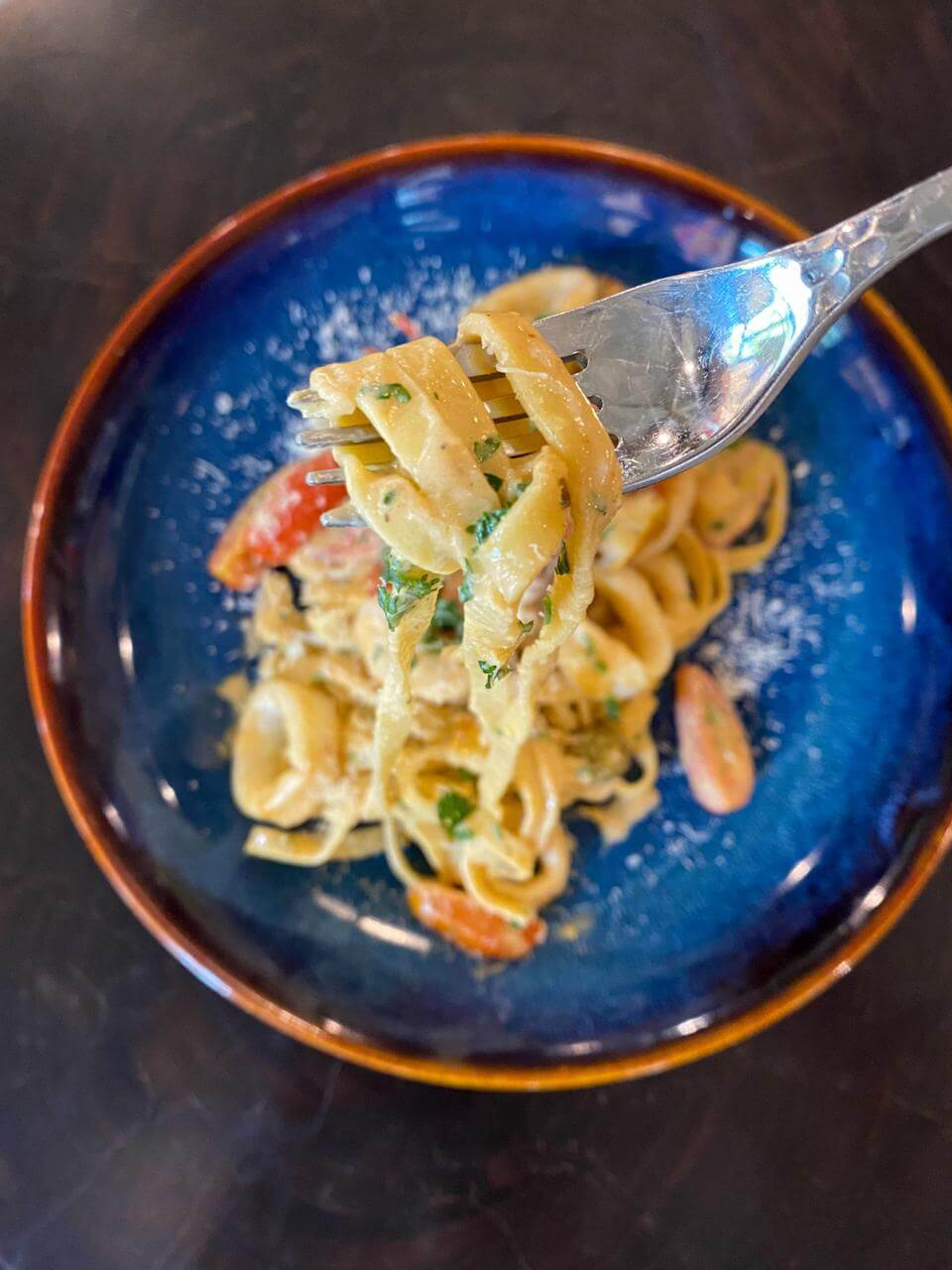 Seafood pasta at Artspace