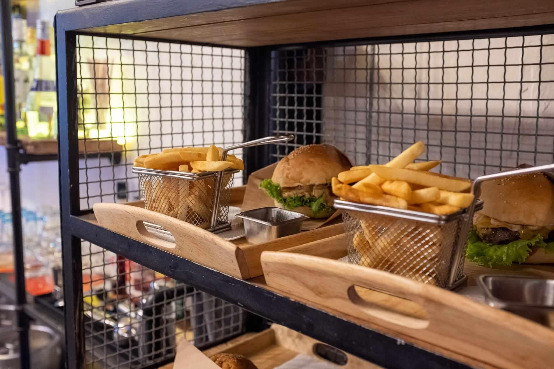 Burger and fries at Burger Craft